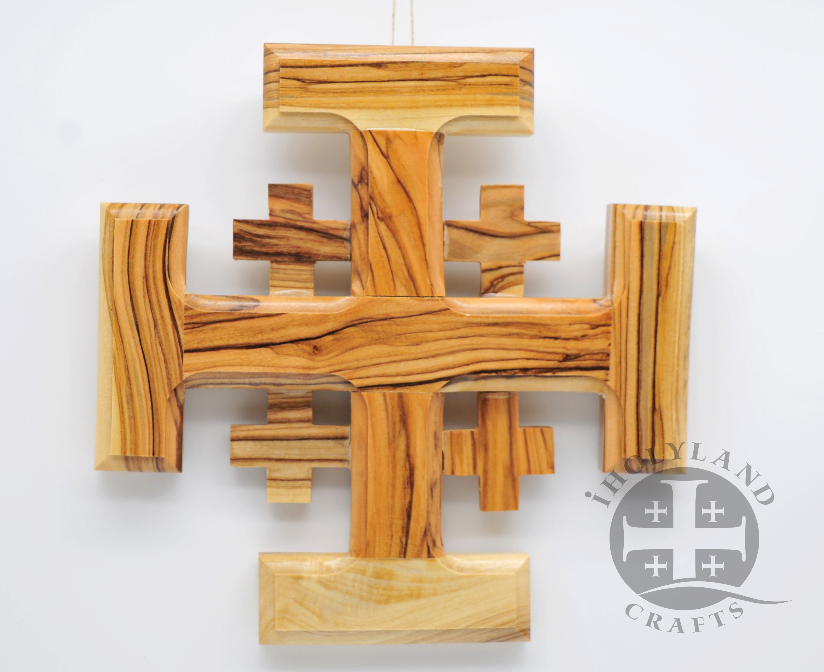Olive Wood Cross Made in Bethlehem Jerusalem Size L//15.8 x W//9.0 cm